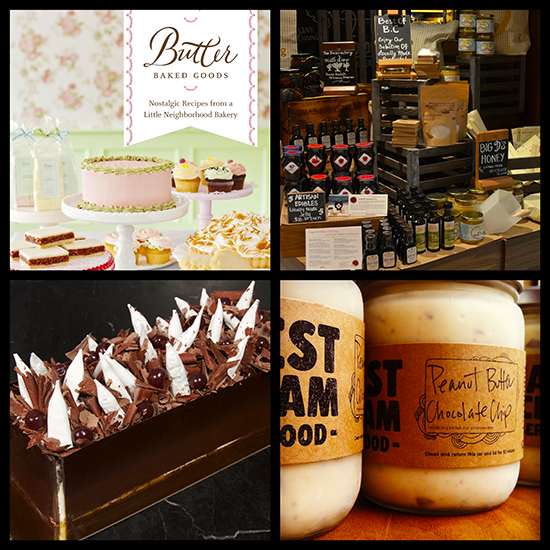 Clockwise from top left: Butter Baked Goods, Giovane Cafe, Earnest Ice Cream, Thierry Patisserie Chocolaterie Cafe