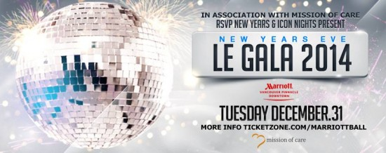 Le Gala at Marriott Pinnacle Hotel | Vancouver New Year's Eve Top Events