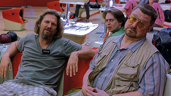 His dudeness in The Big Lebowski