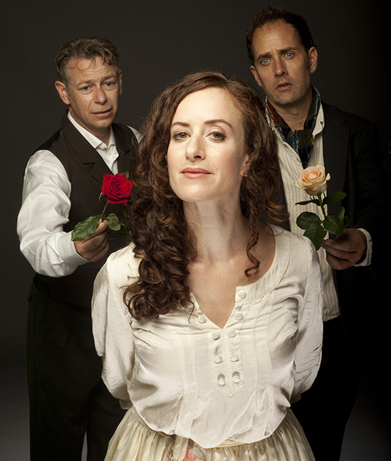 Part of the Uncle Vanya cast: Anthony F. Ingram, Luisa Jojic, Robert Moloney. Photo Credit: Tim Matheson