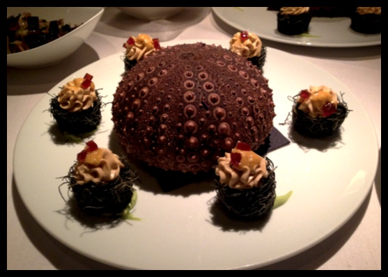 Blue Water Cafe's rendition of sea urchin 2014