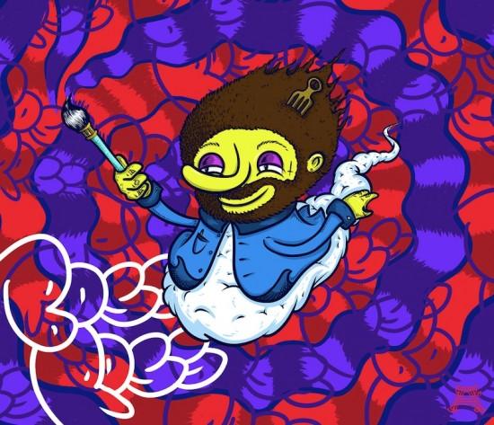 Jeff Laine painting courtesy Christina Chant.