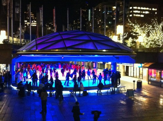 Robson Square Ice Skating | Things To Do In Vancouver This Weekend
