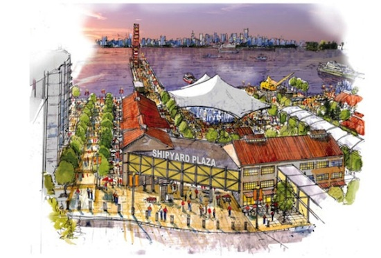 An artist's rendering of the new Central Waterfront area in North Vancouver