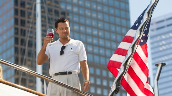Leonardo DiCaprio in The Wolf of Wall Street, one of 10 contenders for this year's Best Picture Oscar. Image courtesy Paramount Pictures.