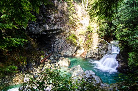 Lynn Canyon Twin Falls. Photo Credit: Lynn Canyon