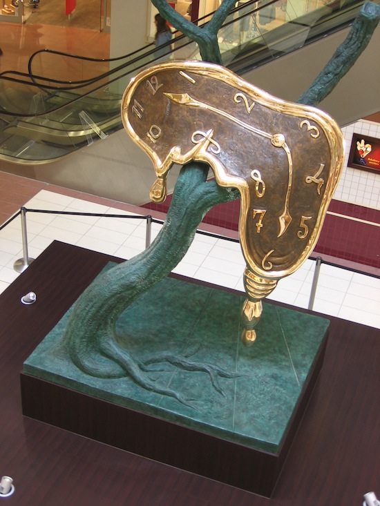 Dali's sculptures, including a version of Profile of Time (above) are on display in Vancouver.  Photo credit: Julo |Wikimedia Commons