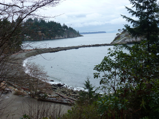 Whytecliff Beach from the Park. Photo Credit: Lilian Sue