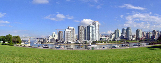 View of False Creek from Charleson Park. Photo Credit: Vancouver Park Board