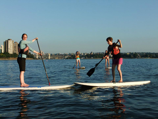 Stand-up paddleboarding. Photo credit: Ecomarine Paddlesport Centres