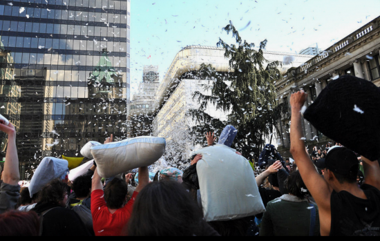 Vancouver pillow fight flashmob 2014