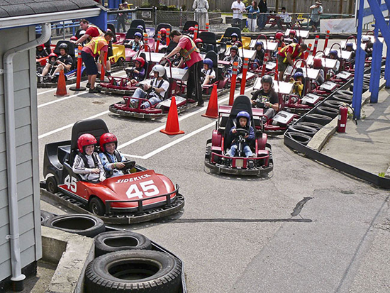 At the Start Gate. Photo Credit: Richmond Go Karts