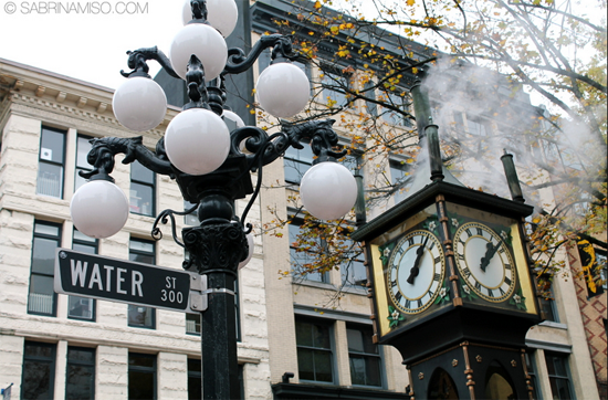 Gastown Steam Clock Photo Credit: Sabrina Miso via Flickr