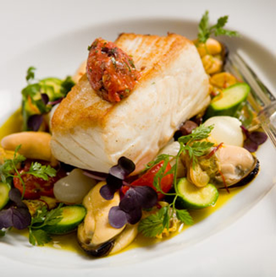 Filet of BC Halibut. Photo Credit: Bacchus Restaurant