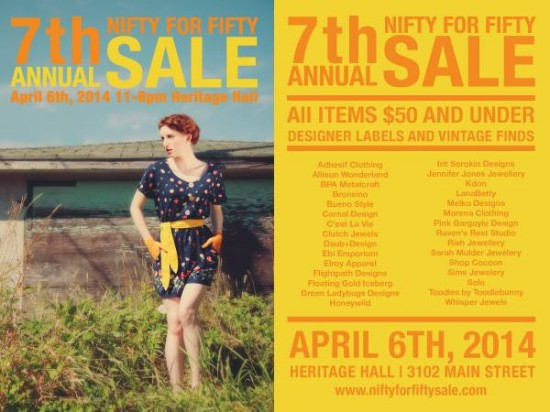 Nifty for Fifty Sale Vancouver 2014