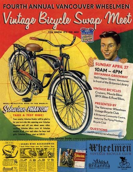 Vintage bike swap Vancouver 2014