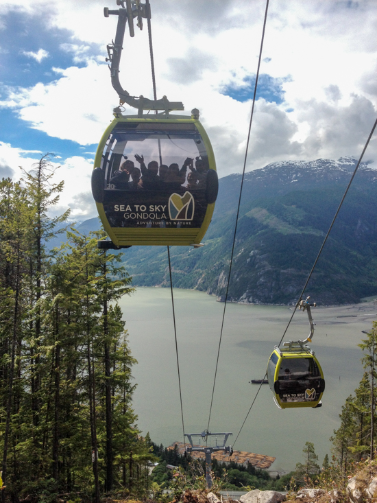 The Sea to Summit trail passes directly below the gondola at one point.