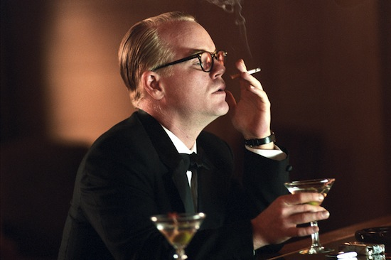 Philip Seymour Hoffman in Capote (2005).