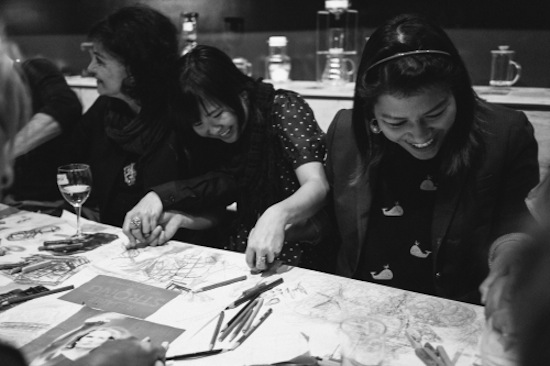 Dinner Party and Doodling with Complete Strangers: Late Nite Art Vancouver Returns