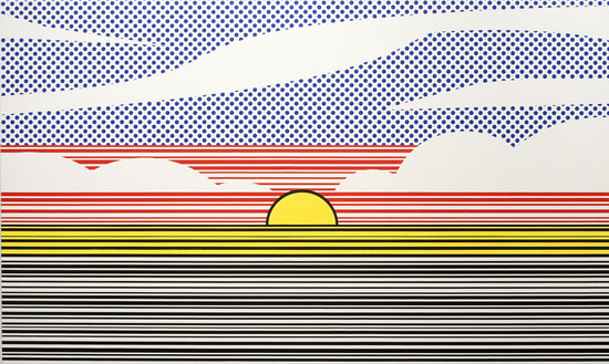 Luggage Tag Sunset No. 3 -Douglas Coupland. Collection of David Dime and Elisa Nuyten