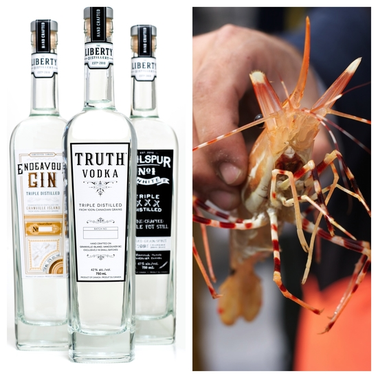 Photo Credit: BC Distilled (photo provided) and Spot Prawn Festival (photo by Karen Hamilton)