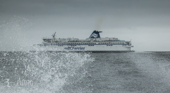 The tour crosses paths with BC Ferries at multiple points during the day.