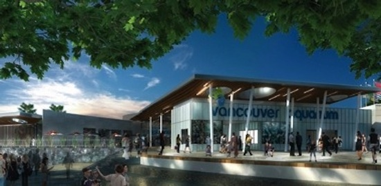 An artist's conception of the new Vancouver Aquarium