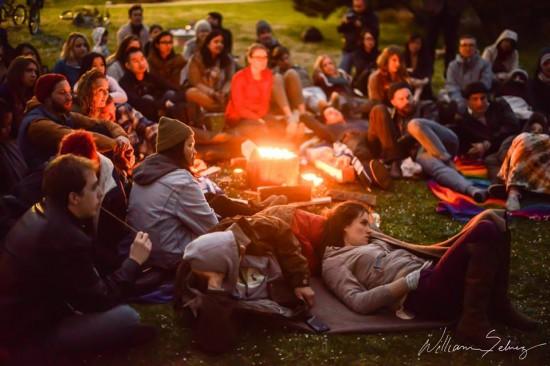 Vancouver beach campfires