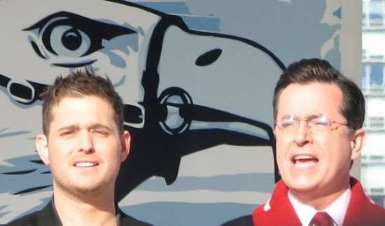 Michael Buble and Stephen Colbert, Vancouver