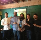 Four chefs and a brewmaster: Brian Skinner, Robert Belcham, Todd Graham, Andrea Carlson, Chris Whittaker