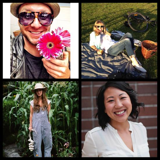Clockwise from top: Kid Carson, Johanna Wagstaff, Taryn Wa, Lisa Giroday