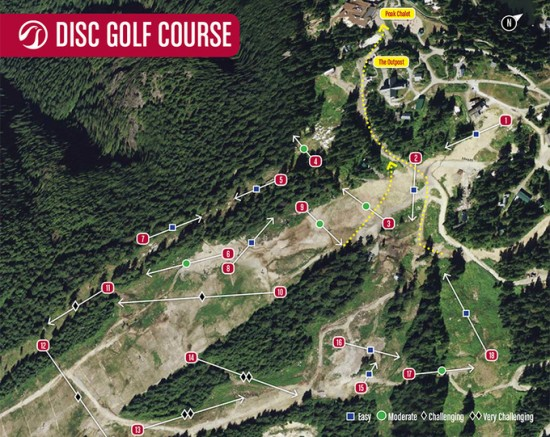 Grouse Mountain Disc Golf Map