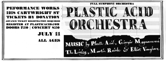 Plastic Acid Orchestra | Things To Do In Vancouver This Weekend