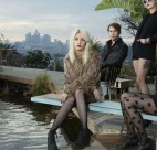 White Lung: Mish Way, Kenneth William, their new bassist and Anne-Marie Vassiliou.