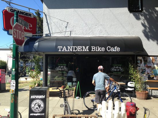Get your gears cranked and your espresso pulled at Tandem Bike Cafe