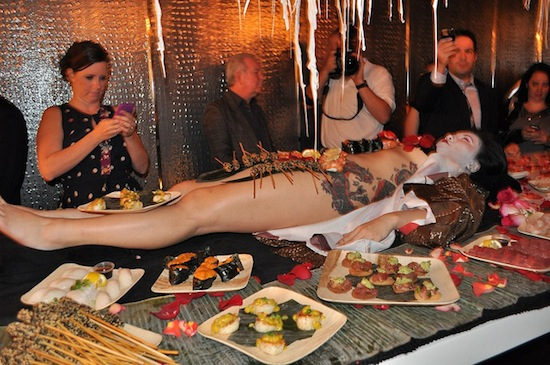 An example of nyotaimori (not taken in Vancouver). Photo credit: Angie   Flickr