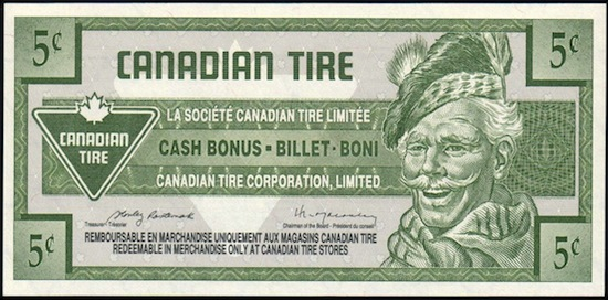 Image result for canadian tire paper money