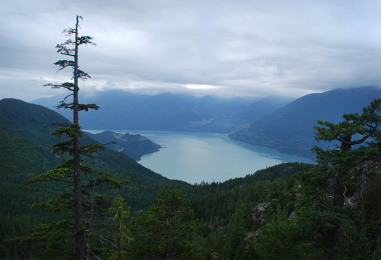 Looking over Squamish from the top. Photo by Ehren Seeland