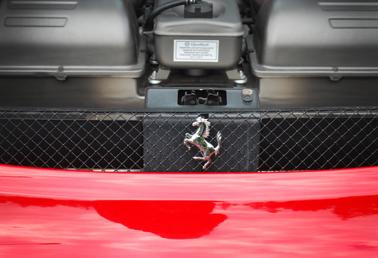Detail shot of the Ferrari 430 Spider. Photo by Ehren Seeland