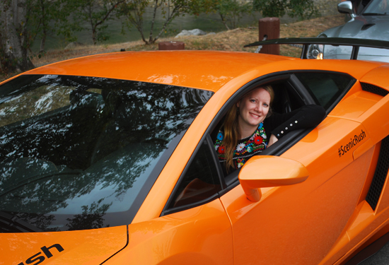 The author behind the wheel of the Lamborghini Gallardo LP560-4. Photo by Ehren Seeland