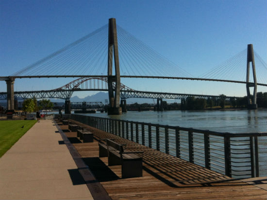 Westminster Pier Park stretches along the Fraser River. Carolyn Ali photo.