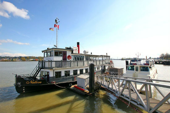 Paddlewheeler Riverboat Tours give a different perspective of the Fraser. Image from Paddlewheeler's website.
