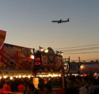 Good food and plane-spotting come together at the Richmond Night Market. Carolyn Ali photo.