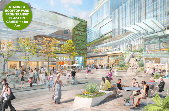 Plans for the Oakridge expansion. Image: City of Vancouver/Ivanhoe Cambridge/Westbank