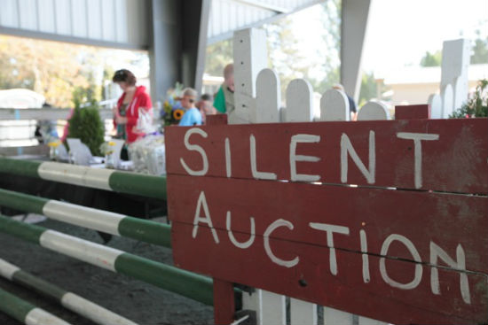 Adults can up the ante at the country fair's silent auction. Photo by Noriko Tidball.