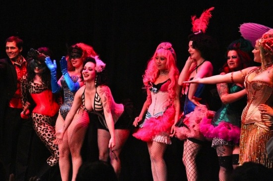 Performers at Beerlesque at the Roundhouse Community Centre Aug 19 2011. Photo credit: Robyn Hanson/The Snipe News