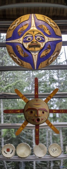 A view at the Squamish Lil'Wat Cultural Centre in Whistler.