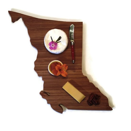 Love My Local will be selling their province-themed cheeseboards at Etsy: Made in Canada