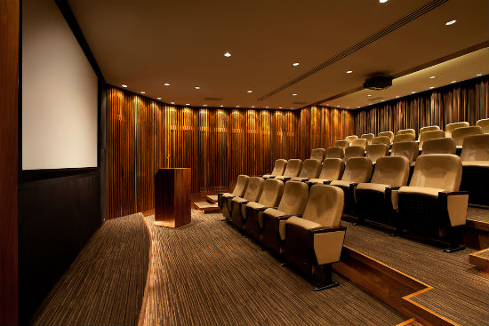 There are just 36 seats in the Shangri-La Hotel Vancouver's Blue Moon Theatre.