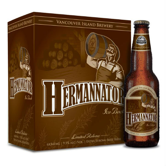 Vancouver Island Brewery's Hermannator Ice Bock won the Best in Show at the B.C. Beer Awards 2013. This photo of the 2010 edition is from VIB's Facebook page.